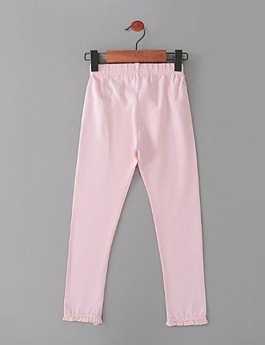 Bambino (1-4 Anni) Da Ragazza Semplici Tinta Unita Nylon Pantaloni Rosa #06521493