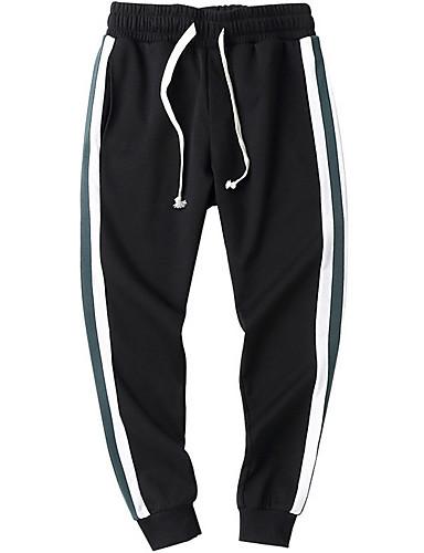 בגדי ריקוד גברים כותנה סקיני מכנסיים פסים