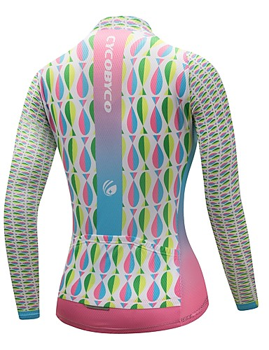 cheap Cycling Clothing-CYCOBYCO Women's Long Sleeve Cycling Jersey - Sky Blue+White Plus Size Bike Sweatshirt Jersey Top Quick Dry Reflective Strips Sports Polyester 100% Polyester Mountain Bike MTB Road Bike Cycling