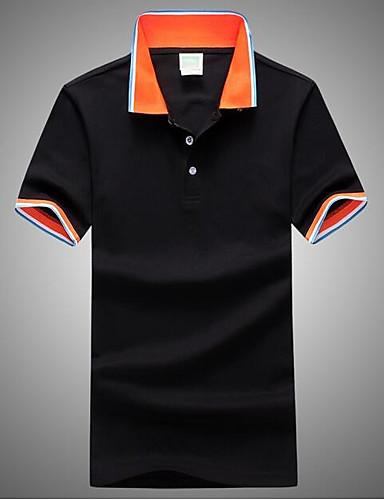 קולור בלוק צווארון חולצה Polo - בגדי ריקוד גברים
