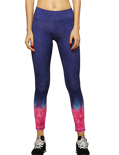 8dbbaedbaf3 Women s Yoga Pants Red Blue Sports Color Gradient Pants   Trousers Tights  Leggings Zumba Running Fitness Activewear Breathable Quick Dry Compression  High ...