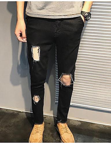 בגדי ריקוד גברים סגנון רחוב סקיני / ג'ינסים מכנסיים אחיד