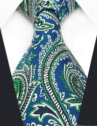 גברים של המפלגה עבודה rayon עניבה - צבע לחסום paisley jacquard