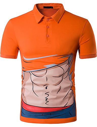 T-shirt Męskie Moda miejska Bawełna Sport Stójka Szczupła
