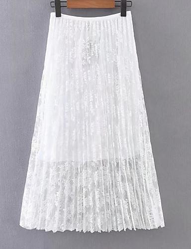 דפוס אחיד - חצאיות גזרת A מידות גדולות בגדי ריקוד נשים