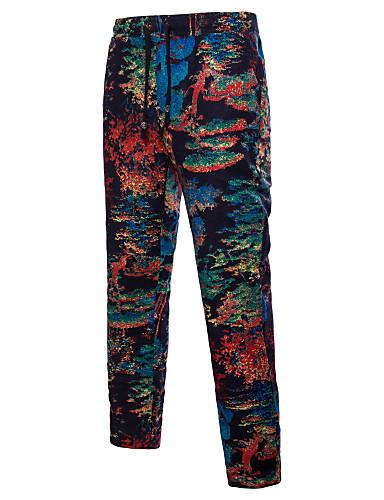 Męskie Luźna Typu Chino Spodnie - Nadruk, Wszechświat