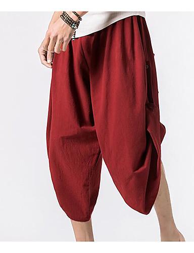 בגדי ריקוד גברים סגנון רחוב צ'ינו מכנסיים אחיד