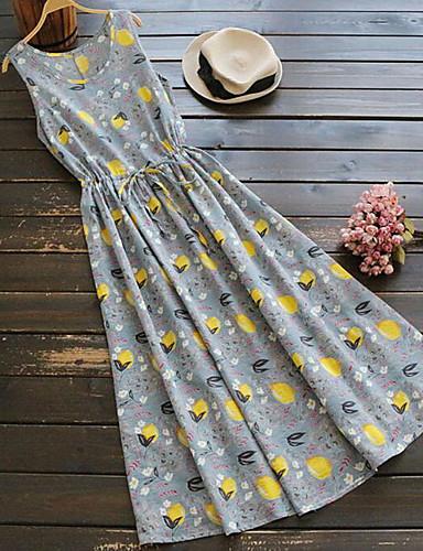 מעל הברך דפוס, פרחוני - שמלה נדן בגדי ריקוד נשים / קיץ