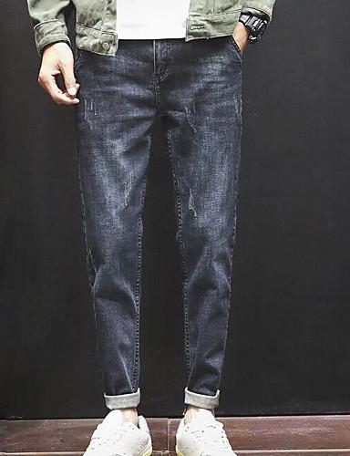 מכנסיים אחיד ג'ינסים סגנון רחוב בגדי ריקוד גברים