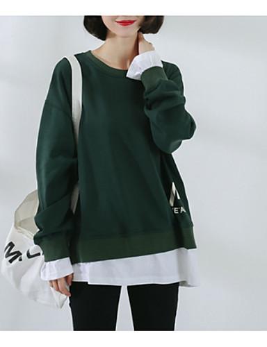 T-shirt Damskie Podstawowy / Moda miejska, Sportowy Solidne kolory