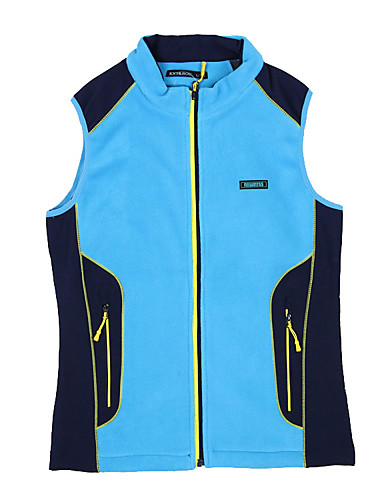 cheap Outdoor Clothing-Women's Hiking Vest Outdoor Winter Warm Vest / Gilet Single Slider Camping / Hiking Outdoor Exercise Back Country Blue / Pink / Violet Hiking Fleece Camping & Hiking Apparel & Accessories Activewear