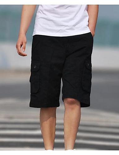 בגדי ריקוד גברים כותנה שורטים מכנסיים אחיד