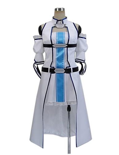 povoljno Anime kostimi-Inspirirana SAO Swords Art Online Asuna Yuuki / Cosplay Anime Cosplay nošnje Japanski Cosplay Suits Other Bez rukávů Kaput / Haljina / Rukavi Za Muškarci / Žene