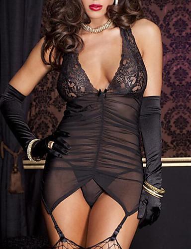 בגדי ריקוד נשים חליפות אולטרה סקסי Nightwear - גב חשוף, אחיד