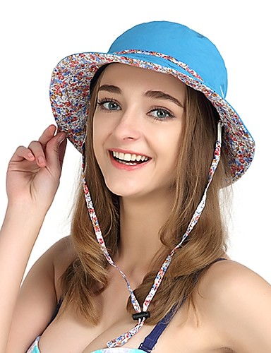 cheap Outdoor Clothing-VEPEAL Hiking Cap Running Cap Hat Windproof UV Resistant Breathability Spring Summer Purple Blue Pink Women's Fishing Traveling Walking Floral / Botanical