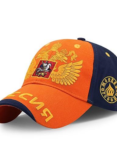 כובע שמש כובע בייסבול - קולור בלוק כותנה עבודה יוניסקס