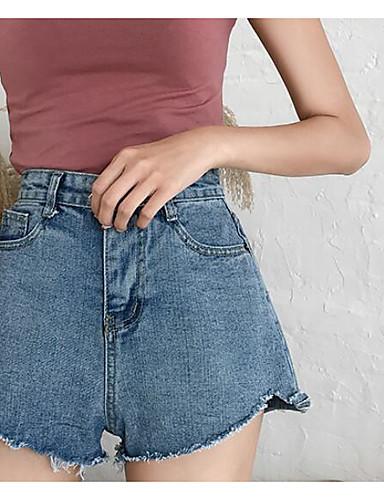 Damskie Rozmiar plus Bawełna Haremki / Krótkie spodnie Spodnie - Plisy, Jendolity kolor