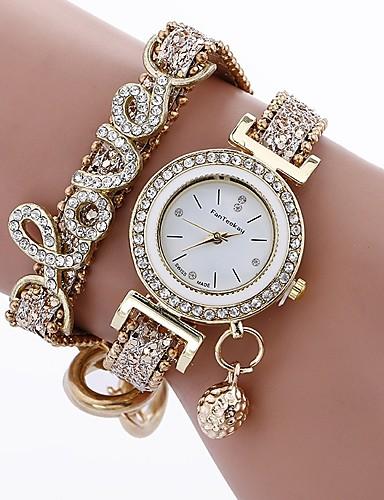 0d50e9f88 Women's Casual Watch Bracelet Watch Simulated Diamond Watch Quartz Quilted PU  Leather Black / Blue / Silver Casual Watch Imitation Diamond Analog Ladies  ...