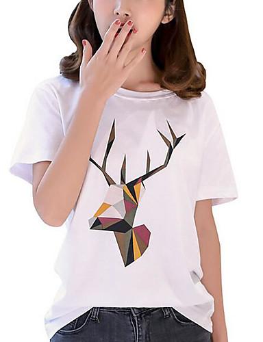T-shirt Damskie Podstawowy, Nadruk Graficzny