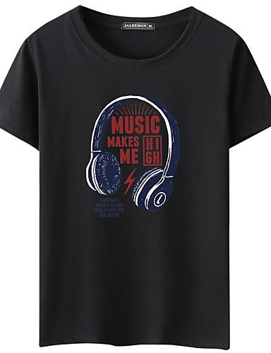 T-shirt Męskie Podstawowy Okrągły dekolt Geometric Shape / Krótki rękaw
