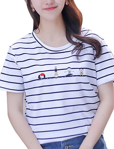 T-shirt Damskie Moda miejska Prążki