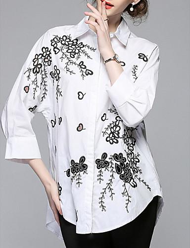 Koszula Damskie Podstawowy Kwiaty