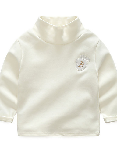Bambino (1-4 Anni) Da Ragazzo Attivo Quotidiano Tinta Unita Manica Lunga Poliestere T-shirt Grigio #06642767