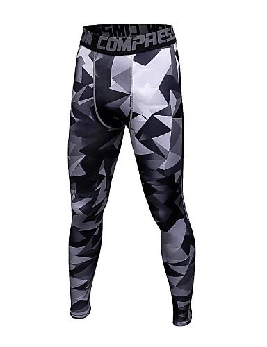 Homme Pantalon de compression Collants de Course Running Noir Noir   Argent  Noir   Blanc Des sports camouflage Spandex Pantalons   Surpantalons  Vêtements de ... 7b2b32865fc