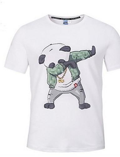 T-shirt Męskie Aktywny, Nadruk Okrągły dekolt Zwierzę / Krótki rękaw