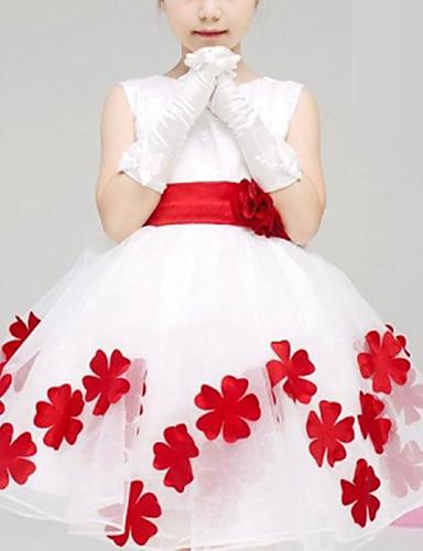 Girl's Summer/Spring/Fall Micro-elastic Medium Sleeveless Dresses (Cotton)