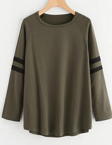T-shirt Damskie Moda miejska Wyjściowe Solidne kolory