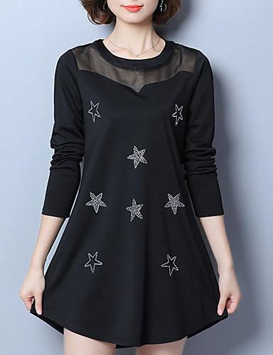 Damskie Rozmiar plus Moda miejska Szczupła Spódnica Sukienka - Geometryczny Mini / Jesień