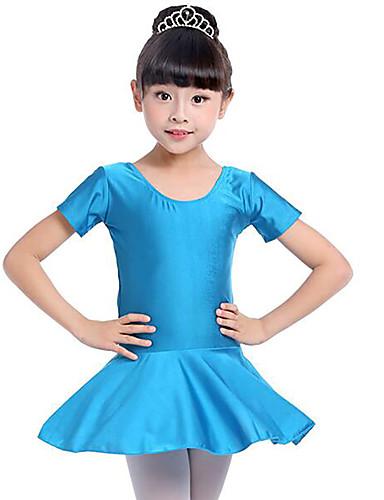 8615fcf415d0 Μπαλέτο Φορέματα Κοριτσίστικα Εκπαίδευση   Επίδοση Spandex Πλισέ  Κοντομάνικο Φυσικό Φόρεμα