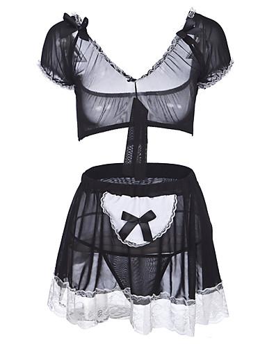 18fe66df34e Women s Sexy Babydoll   Slips   Uniforms   Cheongsams   Suits Nightwear - Lace  Color Block