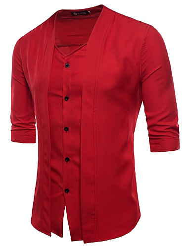 Men's Active Street chic Shirt - Solid Colored