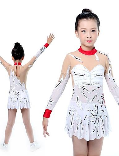 f92ec50c9acc Rhythmic Gymnastics Leotards Artistic Gymnastics Leotards Women's Girls' Leotard  Ivory High Elasticity Handmade Print Shading Long Sleeve Competition Ballet  ...