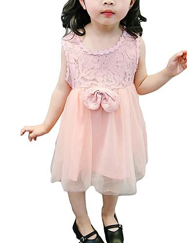 Brzdąc Dla dziewczynek Kwiaty Bez rękawów Sukienka