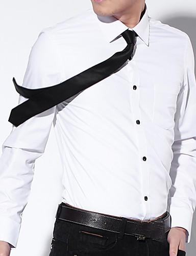 Koszula Męskie Biznes / Podstawowy Bawełna Praca Szczupła - Solidne kolory / Długi rękaw