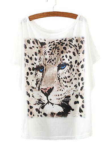 Pentru femei Tricou Șic Stradă - Animal Imprimeu