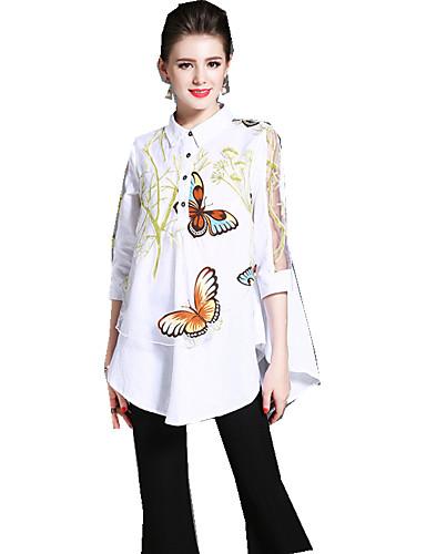 Koszula Damskie Wzornictwo chińskie, Nadruk Kwiaty