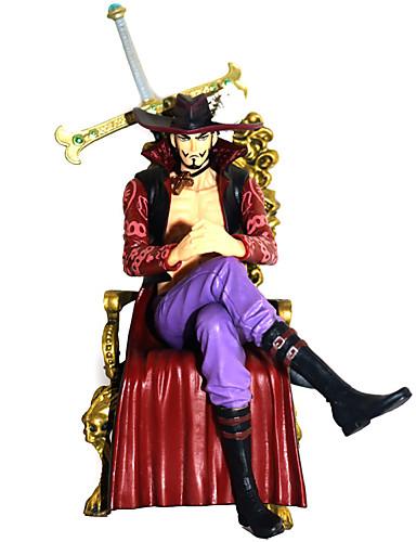 billige Cosplay og kostumer-Anime Actionfigurer Inspireret af En del Dracula Mihawk PVC 16.5 cm CM Model Legetøj Dukke Legetøj