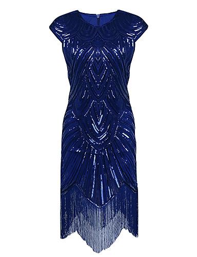 voordelige Jurken voor speciale gelegenheden-Strak / kolom Met sieraad Asymmetrisch Polyester Glitter & Sprankel / Zwart jurkje Cocktailparty / Schoolfeest Jurk met Pailletten door TS Couture®