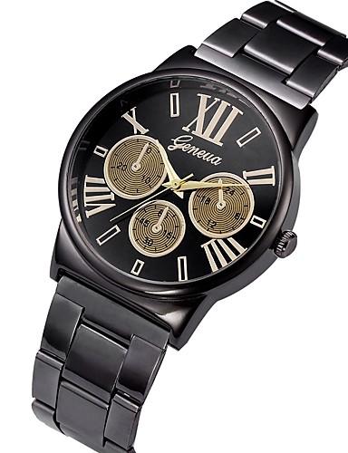 Bărbați Ceas Sport Quartz Creative Model nou Ceas Casual Oțel inoxidabil Bandă Analog Lux Modă Auriu - Auriu Alb Negru Un an Durată de Viaţă Baterie / Mare Dial / SSUO LR626 / Tianqiu 377