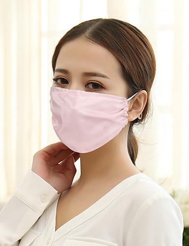olcso Női maszkok-Női Egyszínű Háló Alap - Száj maszk
