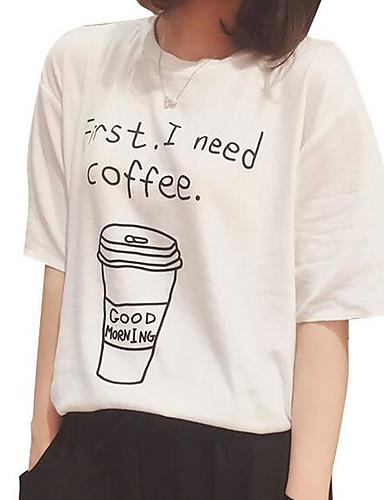 t-shirt damski - okrągły dekolt