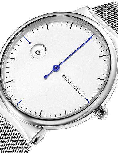 MINI FOCUS Bărbați Ceas de Mână Quartz Creative Model nou Ceas Casual Oțel inoxidabil Bandă Analog Modă minimalist Negru / Albastru / Auriu - Negru Argintiu Albastru