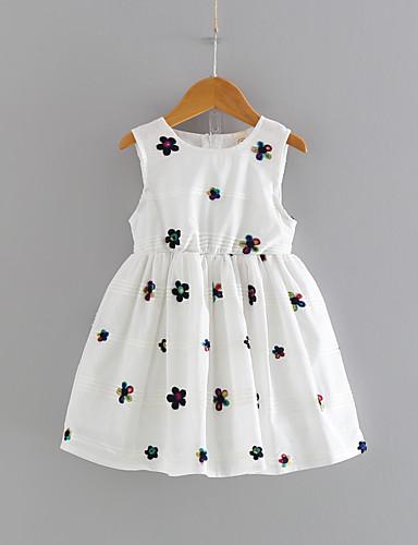 Dzieci Dla dziewczynek Kwiaty Bez rękawów Sukienka