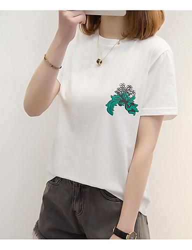 tricou pentru femei - gât rotund geometric