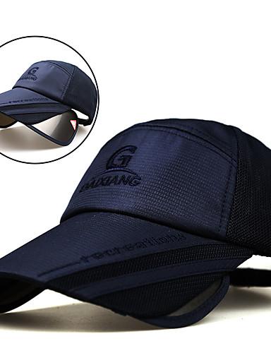 billige Tilbehør-Turcaps Cap Forlenget Pusteevne UV-bestandig Sommer Grå Unisex Fisking Vandring Reise Ensfarget