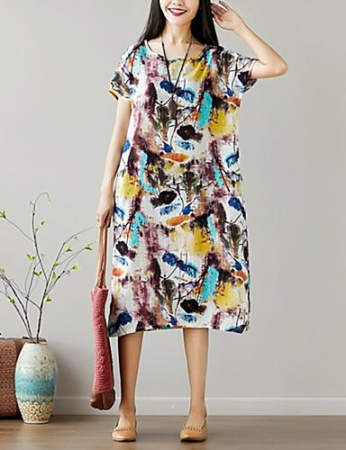 Pentru femei Chinoiserie Swing Rochie - Imprimeu, Floral Midi